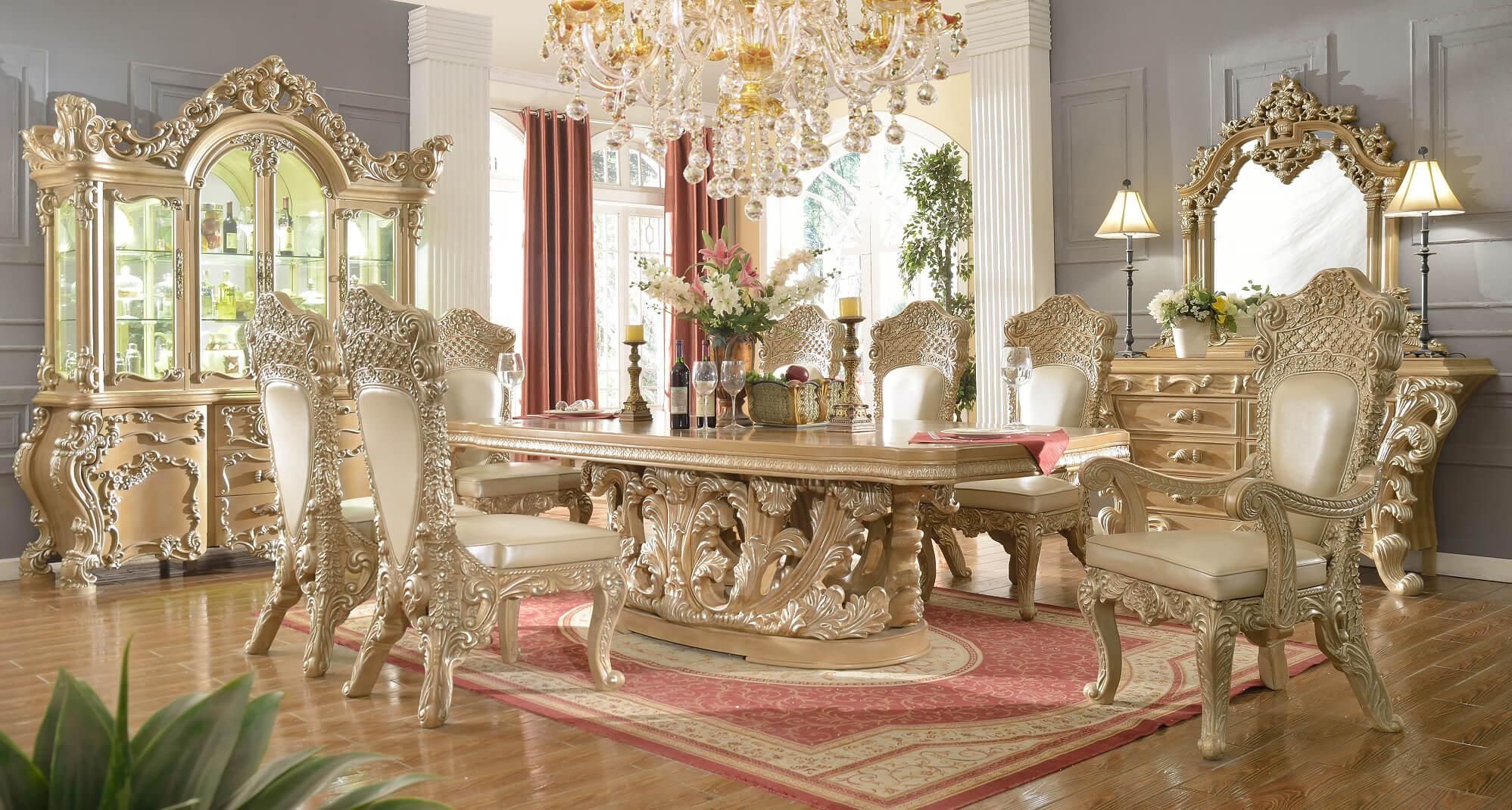 Royal Kingdom Homey Design HD 7012 Dining Set USA