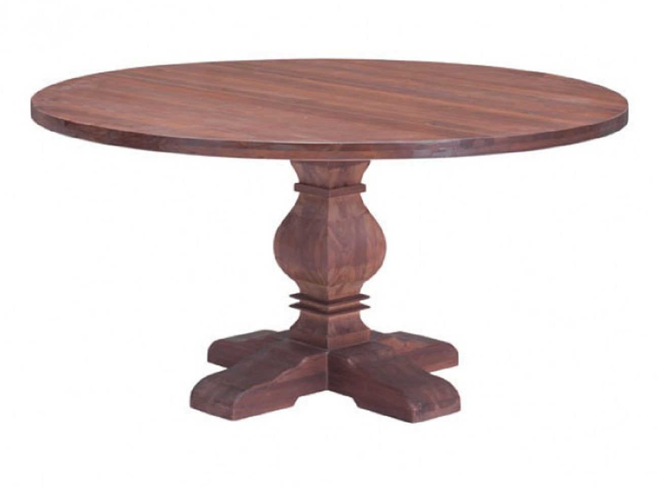Zuo modern hastings solid fir wood round dining table for Wood modern dining table