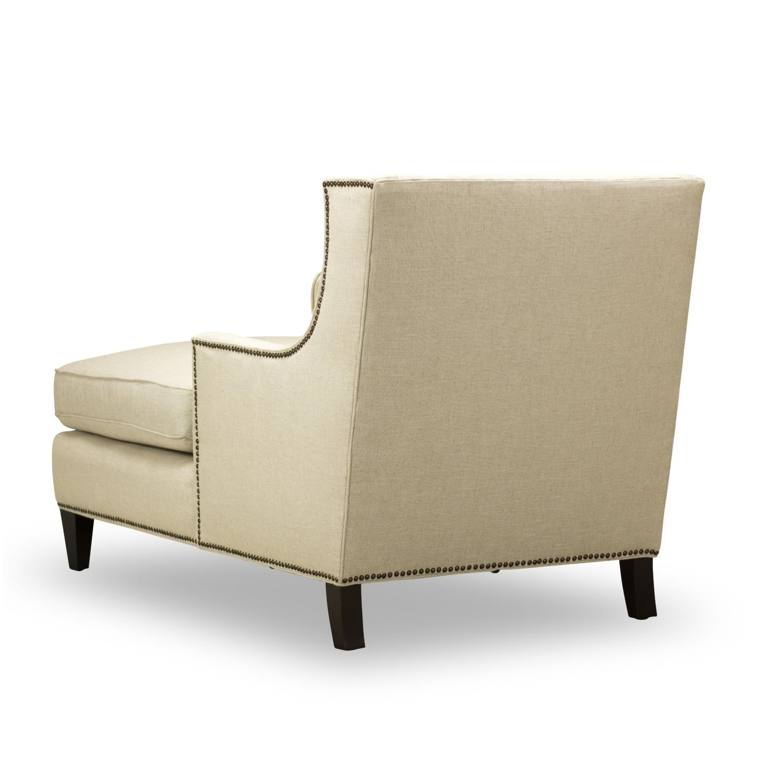 Ava chaise natural fabric by spectra home w c233 225 usa for Ava nailhead chaise