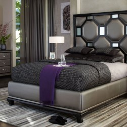 After Eight Black Onyx Upholstered Bedroom Set