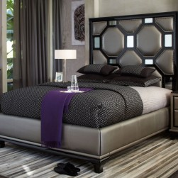 After Eight Black Onyx Upholstered Bed collection