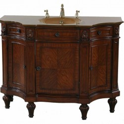 Accent Cherry Burl Vanity Sink