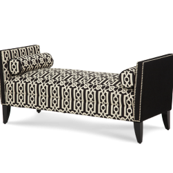 After Eight Arm Bench Black White