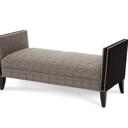 After Eight Arm Bench in Pepper;