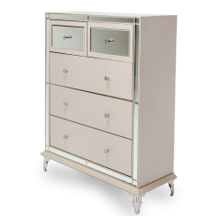 Hollywood Loft Frost 5 Drawer Chest