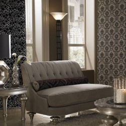 Hollywood Swank Taupe Settee