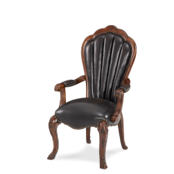 Palace Gates Leather Arm Chair