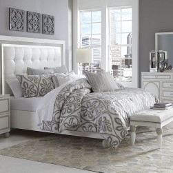 Sky Tower Cloud White Bedroom Set