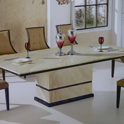 11 Piece Canberra Italian Marble Rectangular Dining Set
