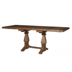 American Attitude Double Pedestal Dining Table