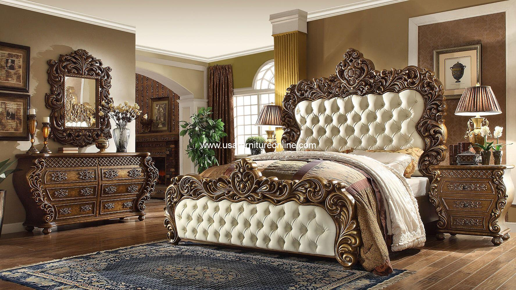 5 Piece Vienna European King Bedroom Set Homey Design HD