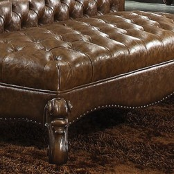 Versailles Bench Upholstered Light Brown