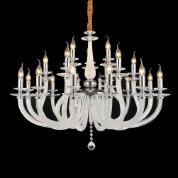 21 Light San Marco Chandelier Opalescent Glass & Chrome Finish