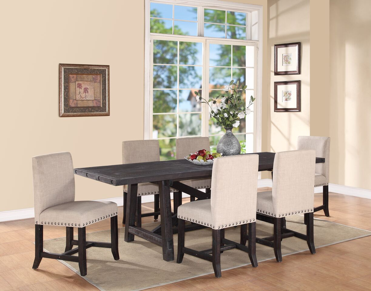 Yosemite Solid Wood Dining Set Upholstered Chair