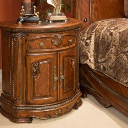 Bella Veneto Nightstand With Marble Top