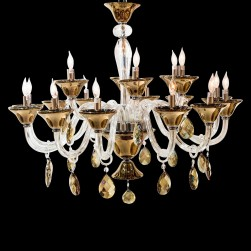 18 Light Rundale Chandelier Glass & Chrome Finish