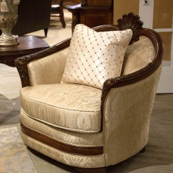 Bella Veneto Wood Trim Luxury Chair