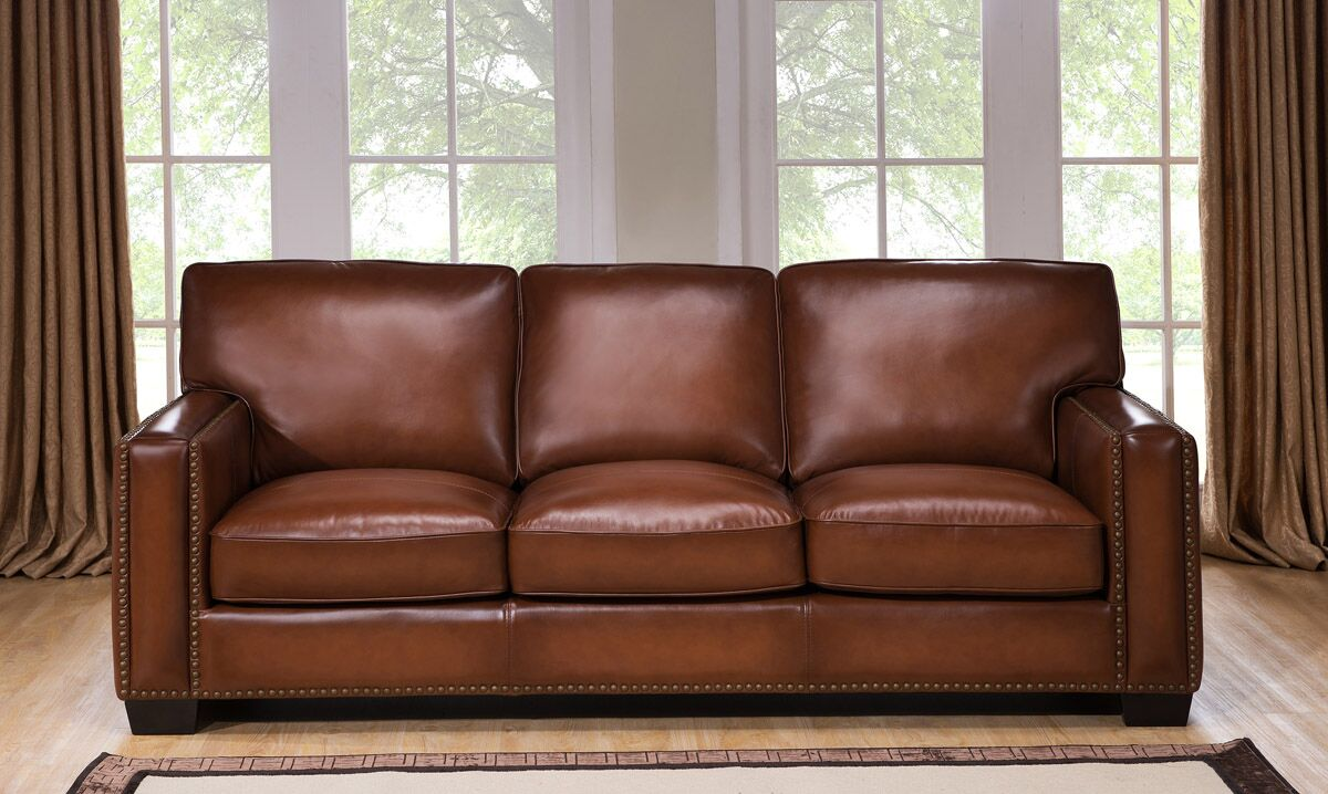 Harley 100 Full Leather Brown Loveseat Usa Furniture Online