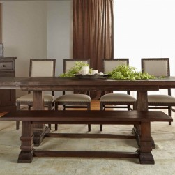 10 Piece Hudson Rustic Java Dining Set With Dexter Chairs