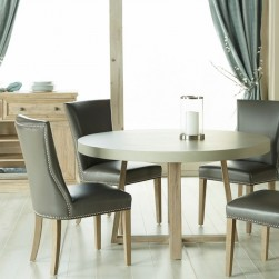 5 Piece Stoneham With Avery Chairs Round Dining Set