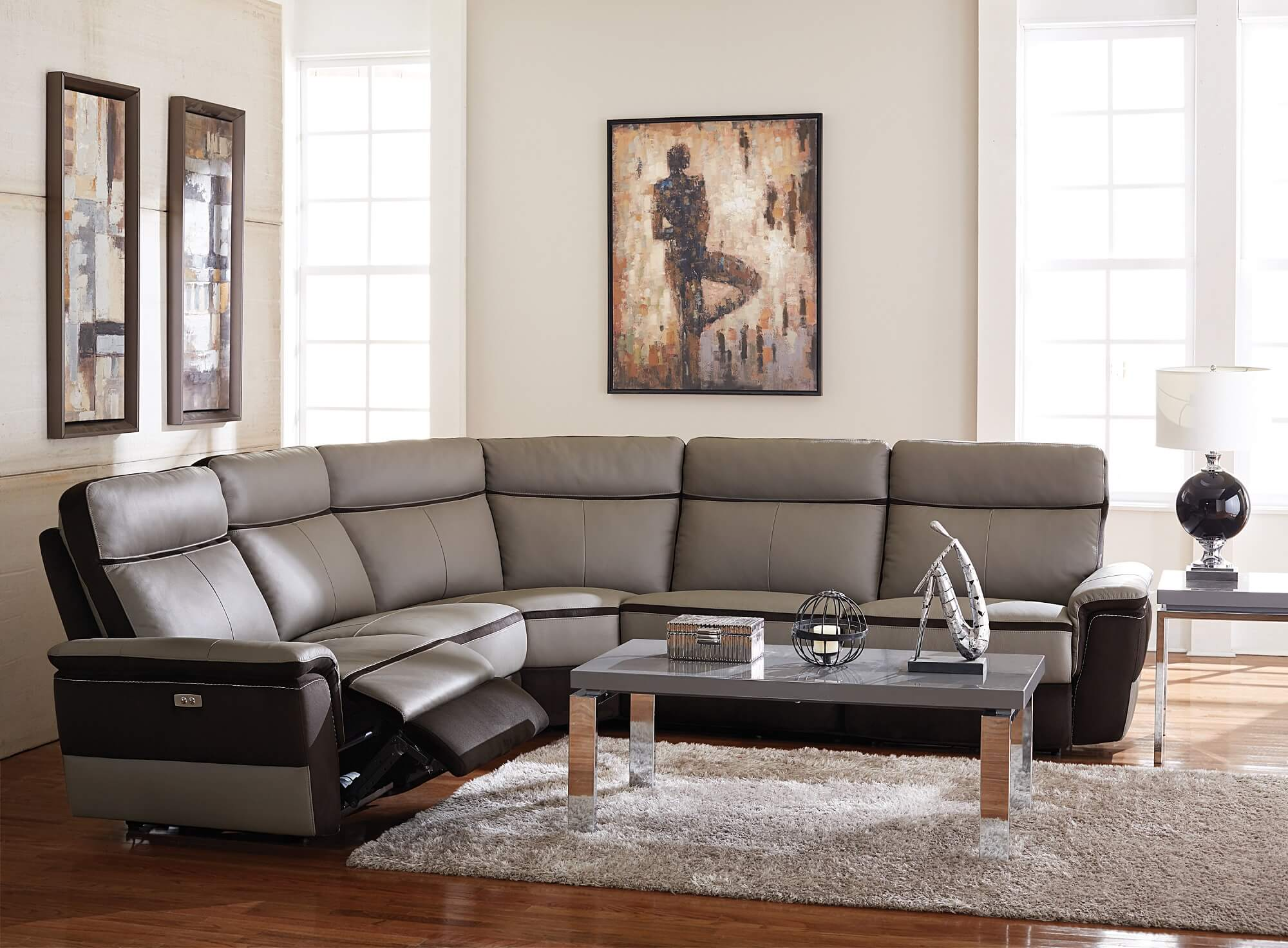 Fabric Sectional Sofa With Power Recliner – Hereo Sofa