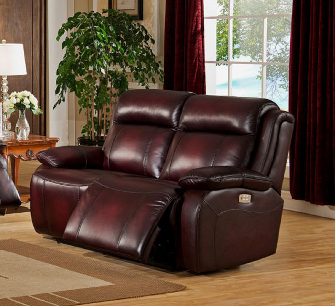 Faraday Two Tone Top Grain Leather Power Reclining