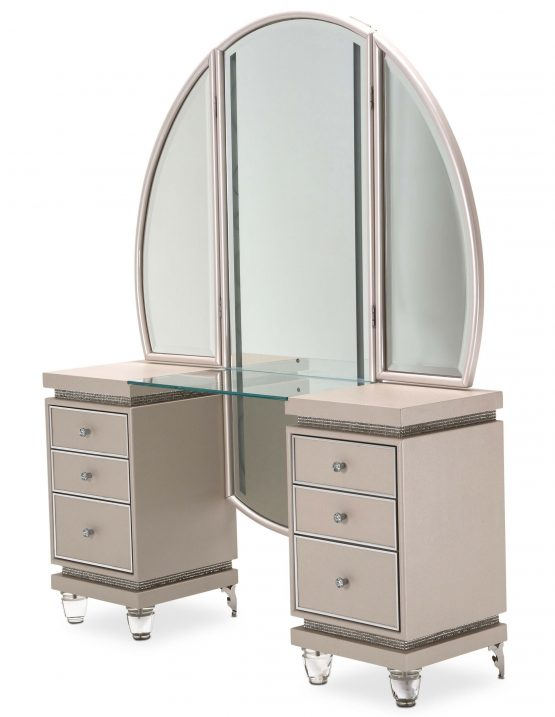 2 Piece Glimmering Heights Vanity Set