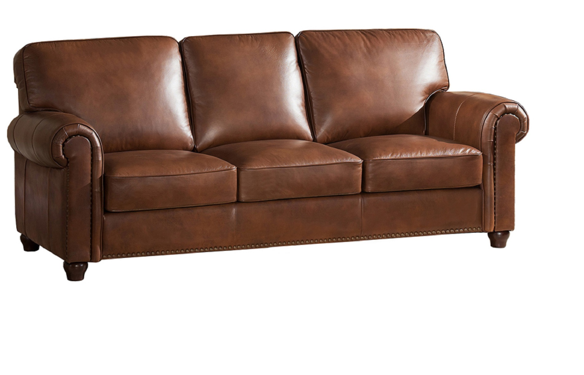 Jane Furniture Barbara Top Grain Brown Leather Sofa Usa