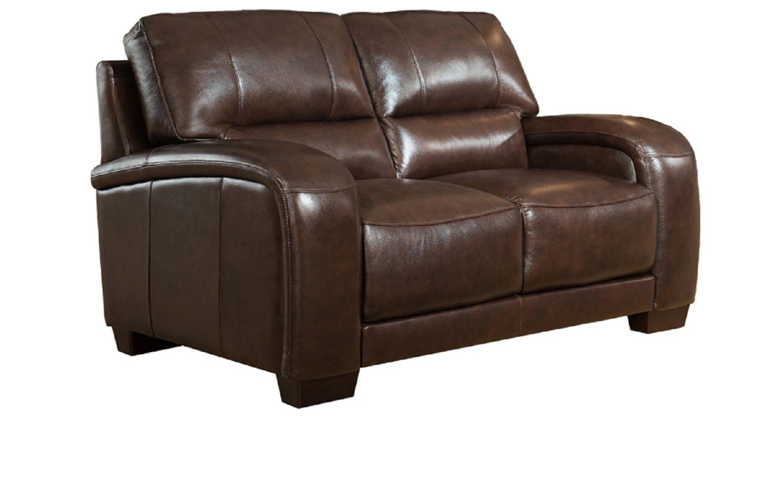 Jane Furniture Brigitte Top Grain Dark Brown Leather Loveseat Usa Furniture Online