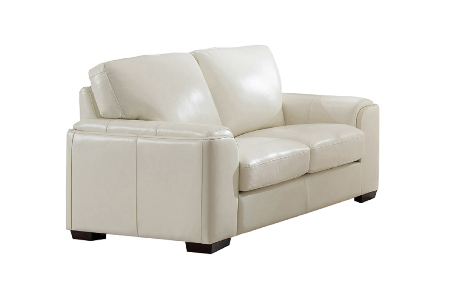Jane Furniture Suzanne Top Grain Ivory White Leather