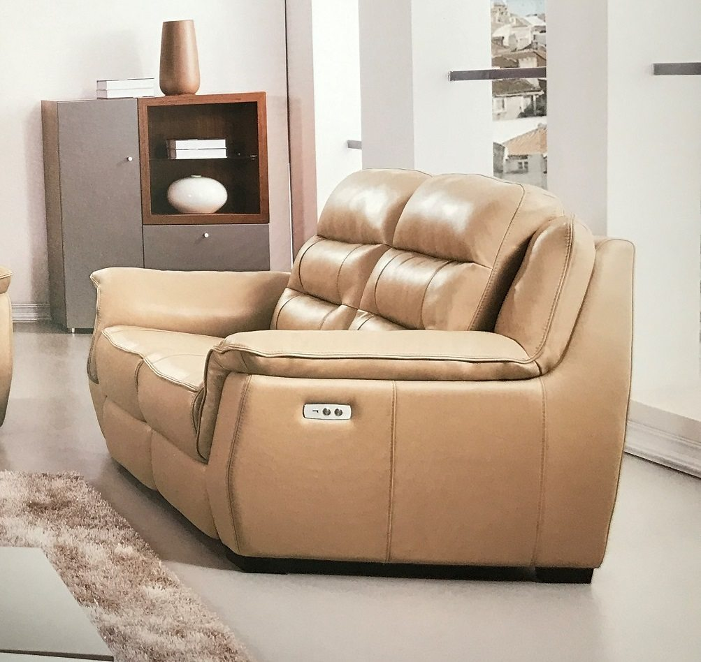 Lago tan italian leather power reclining loveseat usa furniture online Leather reclining loveseat