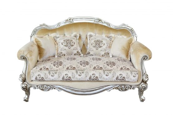 Serena Wood Trim Loveseat